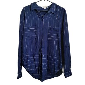 Cloth and Stone Tinsel Stripe Button Up Shirt
